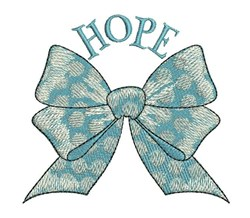 Hope Bow embroidery design