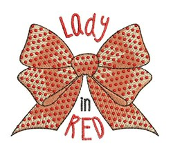 Lady In Red embroidery design