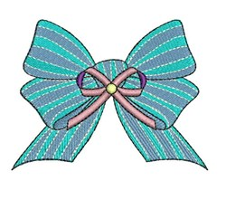 Bow Ribbon embroidery design