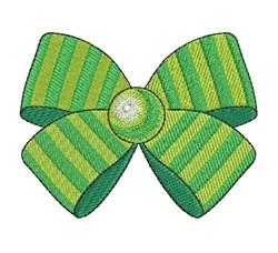 Stripe Bow embroidery design