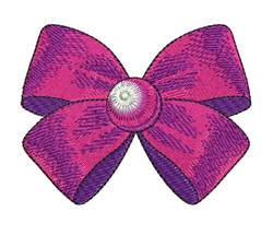 Purple Bow embroidery design