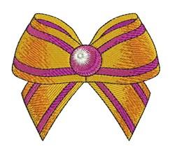 Orange & Purple Bow embroidery design