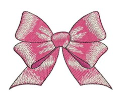 Pink Bow embroidery design