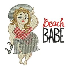 Beach Babe embroidery design