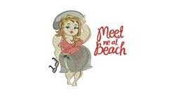 Meet At Beach embroidery design