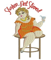 Shaken Not Stirred embroidery design