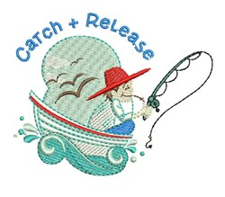 Catch & Release embroidery design