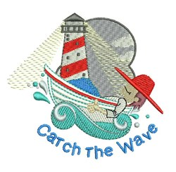 Catch Wave embroidery design