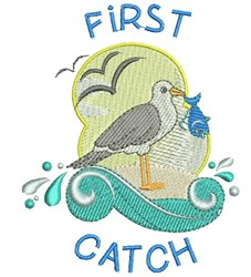 First Catch embroidery design