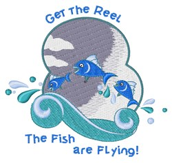 Get The Reel embroidery design