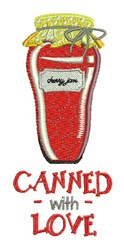 Canned With Love embroidery design