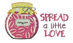 Spread Love embroidery design