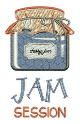 Jam Session embroidery design