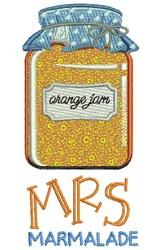 Mrs Marmalade embroidery design