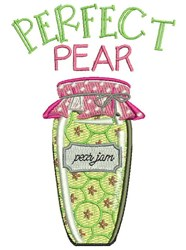 Perfect Pear embroidery design