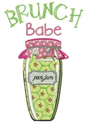 Brunch Babe embroidery design