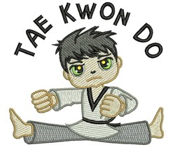 Tae Kwon Do embroidery design