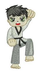 Karate Kid embroidery design