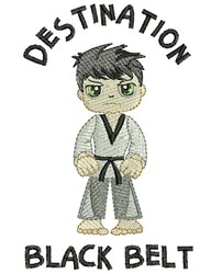 Destination Black Belt embroidery design