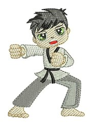Karate Punch embroidery design