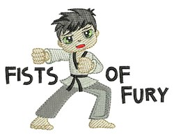Fists Of Fury embroidery design