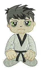 Karate Kneel embroidery design