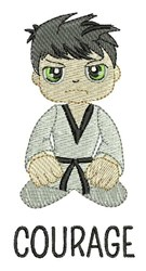 Karate Courage embroidery design