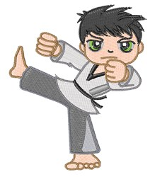 Karate Kick embroidery design