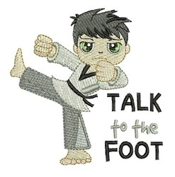 Talk To Foot embroidery design