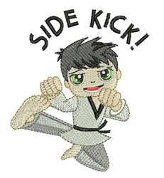 Side Kick embroidery design