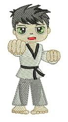Karate Boy embroidery design