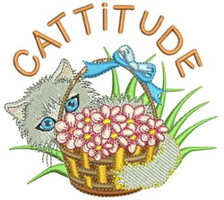 Cattitude embroidery design