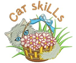 Cat Skills embroidery design