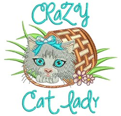 Crazy Cat Lady embroidery design