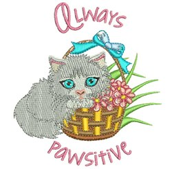 Always Pawsitive embroidery design