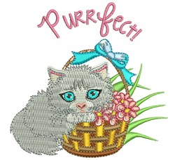 Purrfect embroidery design