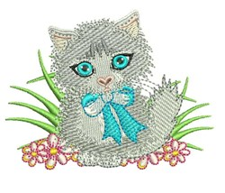 White Cat embroidery design