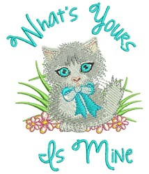 Whats Yours Is Mine embroidery design