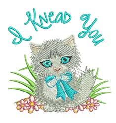 I Knead You embroidery design