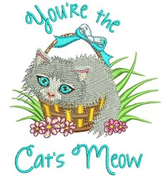 The Cats Meow embroidery design