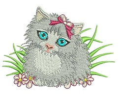 Furry Cat embroidery design