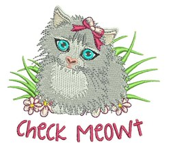 Check Meowt embroidery design