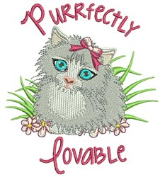 Purrfectly Lovable embroidery design