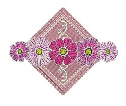 Floral Diamond embroidery design