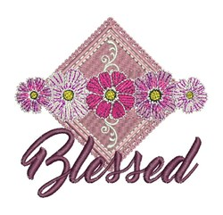 Blessed Floral embroidery design