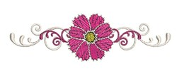 Pink Bloom embroidery design