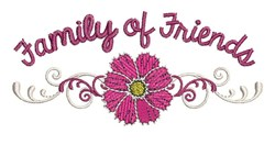 Family Of Friends embroidery design