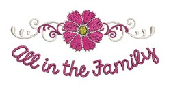 All In Family embroidery design