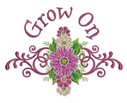 Grow On embroidery design