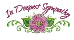 Deepest Sympathy embroidery design